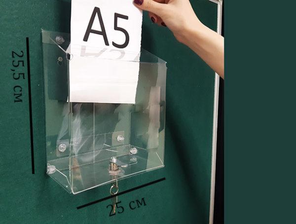 Почтовый ящик с замком под лист А5