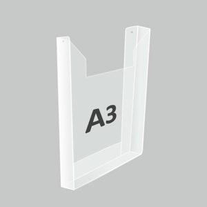 Карман А3 объемный вертикальный под большую пачку журналов