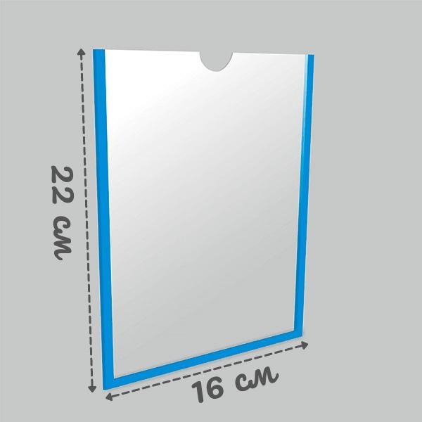 Карман А5 вертикальный самоклеящийся Пэт 0,3 мм белый скотч