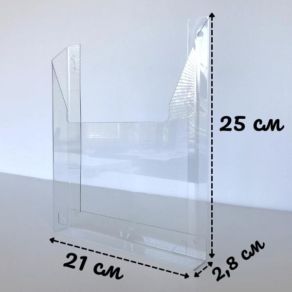 Пластиковый карман А4 объемный вертикальный (под пачку листов)