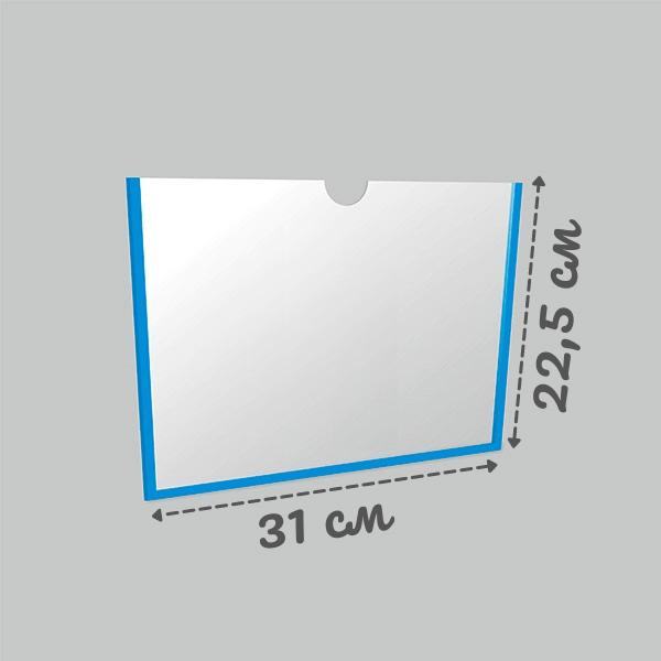 Карман настенный А4 самоклеющийся горизонтальный Пэт 0,3 мм (белый скотч)