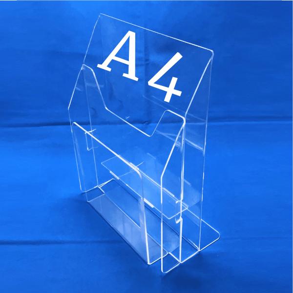 Буклетница настольная на 2 отделения А4