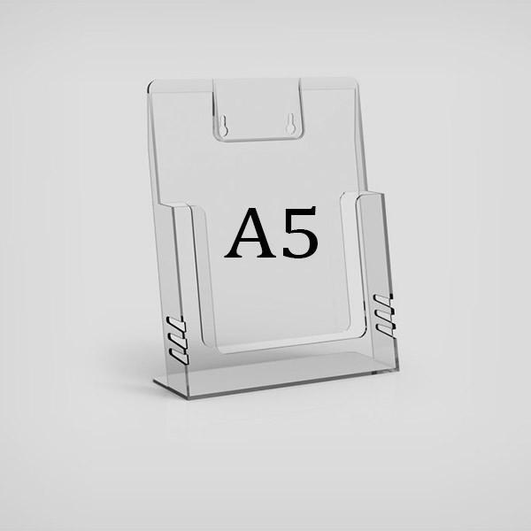 Настольная буклетница А5 пластиковая