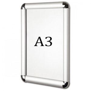 Рамка для постера А3 под серебро