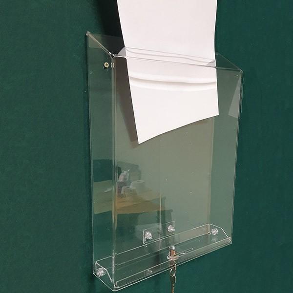 Ящик для голосования с замком под лист А3