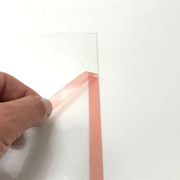 Карман информационный а4 самоклеющийся вертикальный Пэт 0,3 мм (прозрачный скотч)