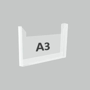 Карман А3 объемный горизонтальный под пачку газет