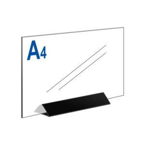Тейбл тент А4 горизонтальный на черном основании