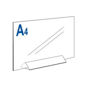Тейбл тент А4 горизонтальный на прозрачном основании