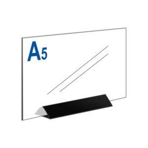 Тейбл тент А5 горизонтальный на черном основании