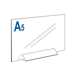Тейбл тент А5 горизонтальный на прозрачном основании