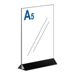 Тейбл тент А5 вертикальный на черном основании