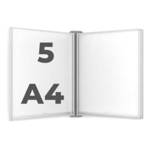 Настенная демосистема 5 черных рамок А4