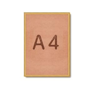 Рамка для постера А4 под золото