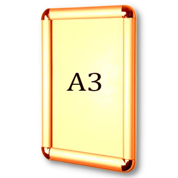 Рамка для постера А3 под золото